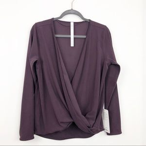 Lululemon Full Freedom Long Sleeve In Black Cherry